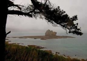Insel im Dunst
